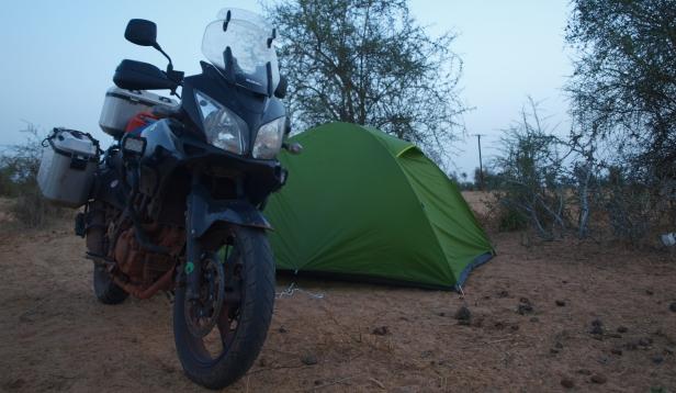 Acampando en Senegal
